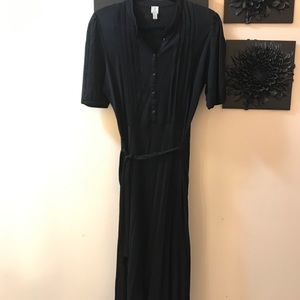 Tristan black button front vintage inspired dress